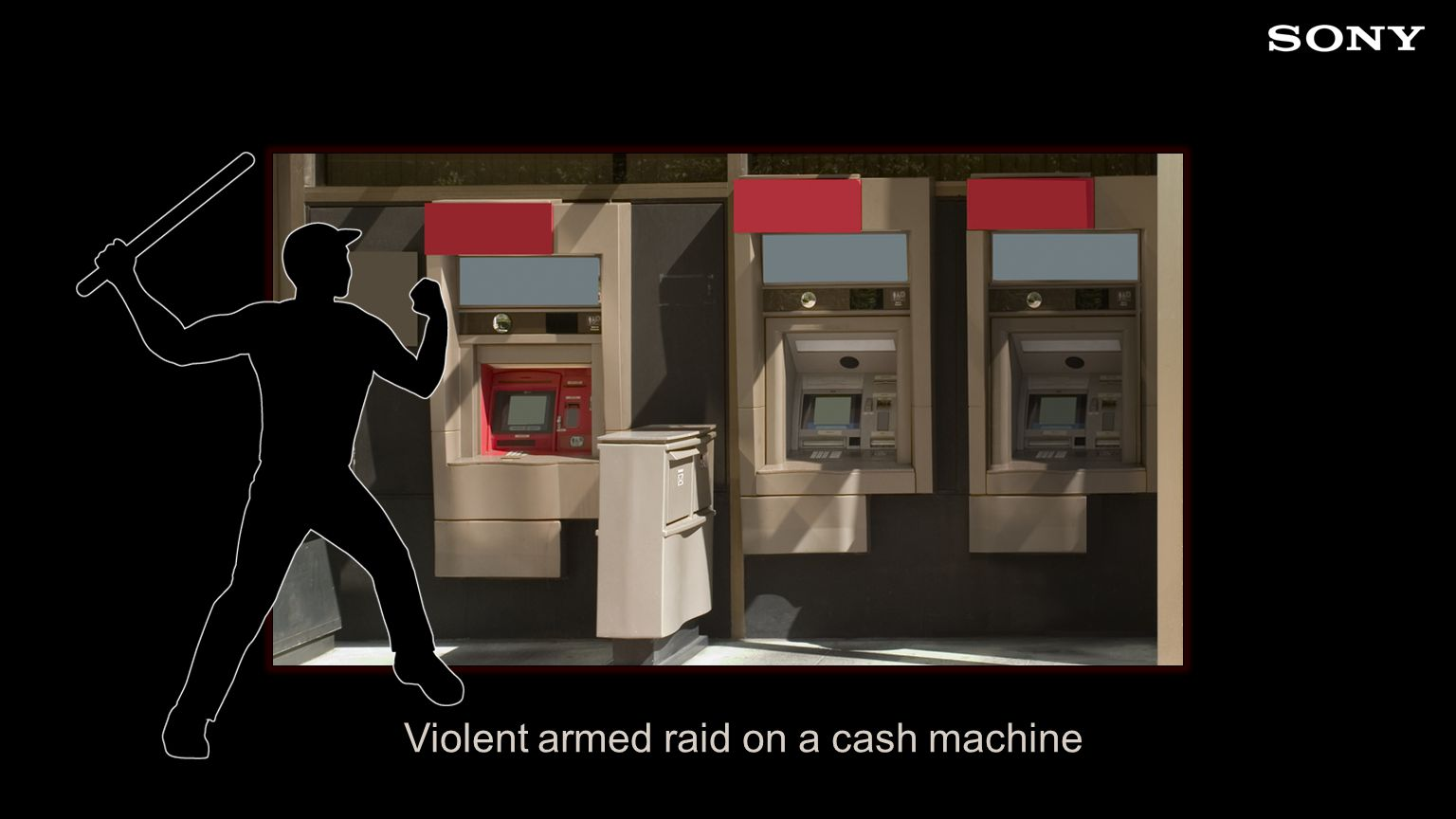 Violent armed raid on a cash machine