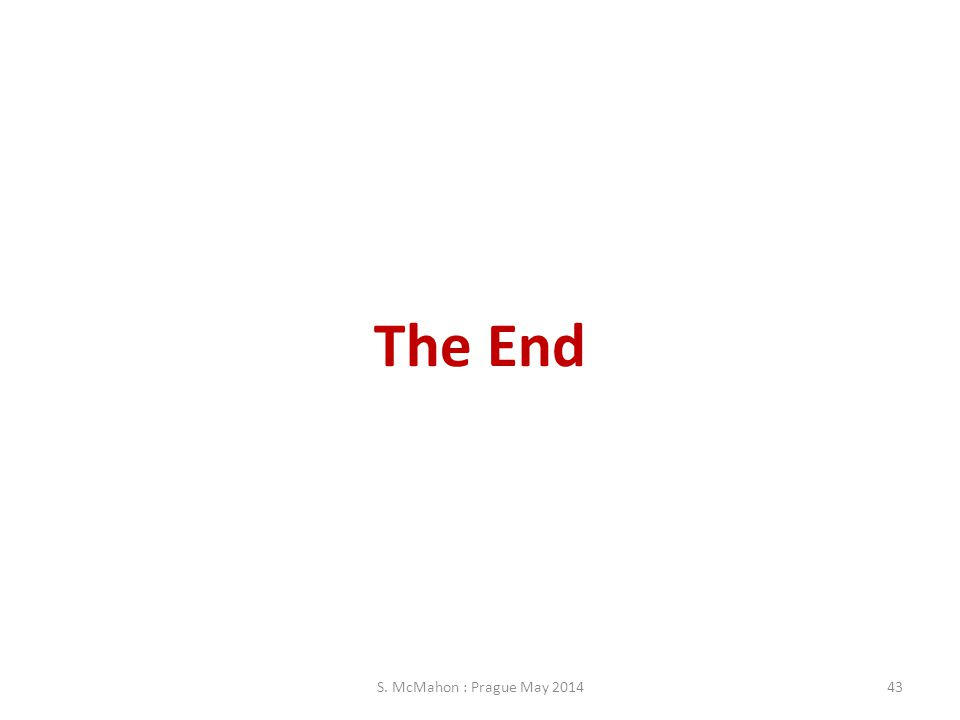 The End S. McMahon : Prague May 201443