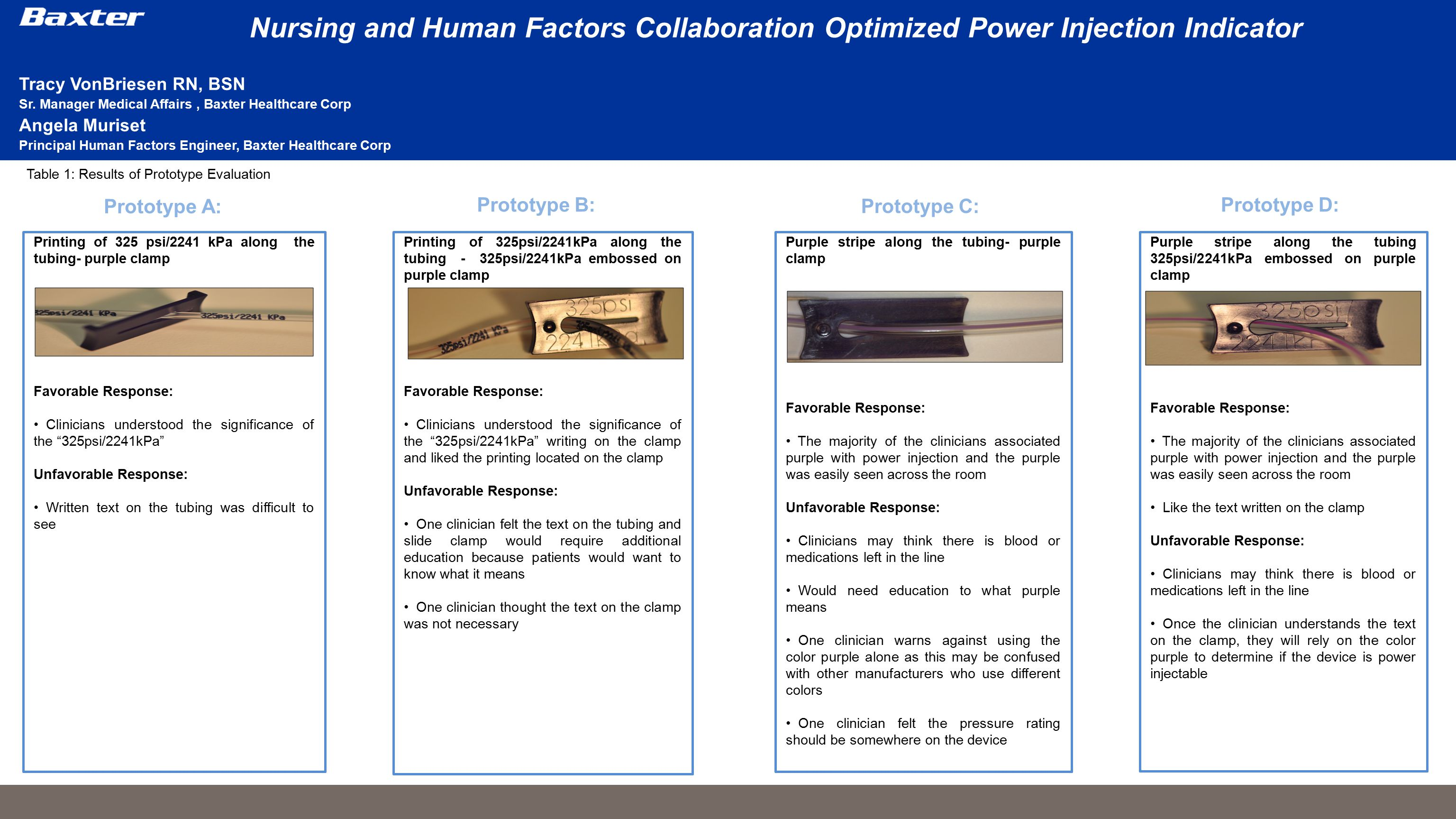 Nursing and Human Factors Collaboration Optimized Power Injection Indicator In 2006, The Joint Commission published a Sentinel Event Alert related to misconnections of medical devices in the clinical setting.