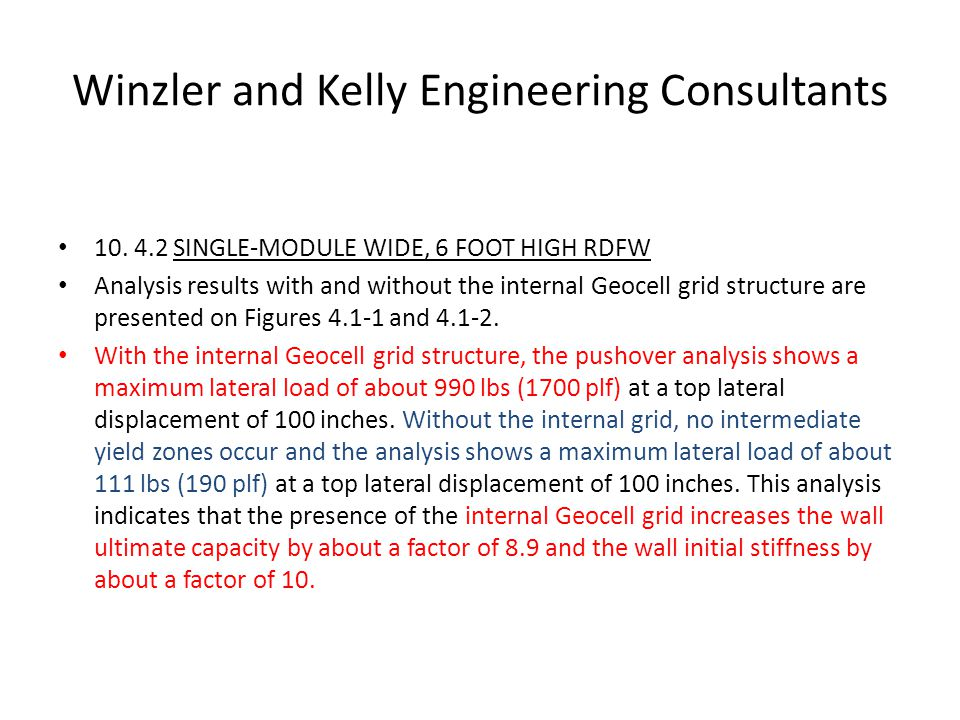 Winzler and Kelly Engineering Consultants 10.