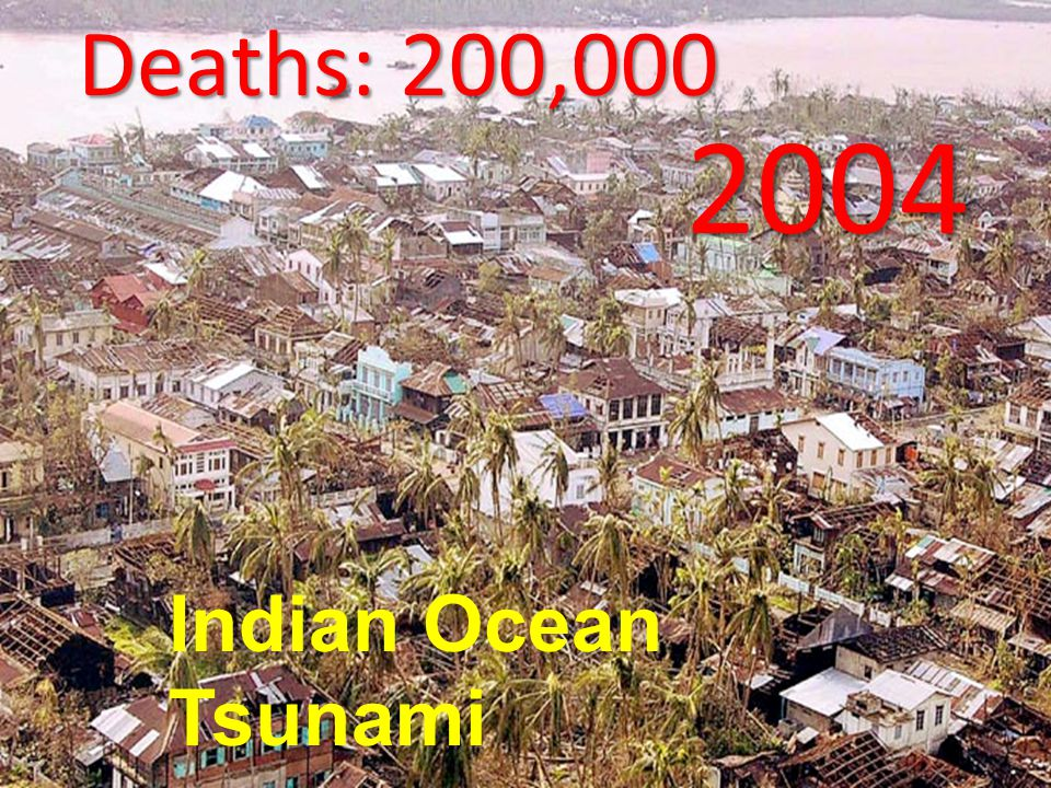 BBC Deaths: 200,000 2004 Indian Ocean Tsunami