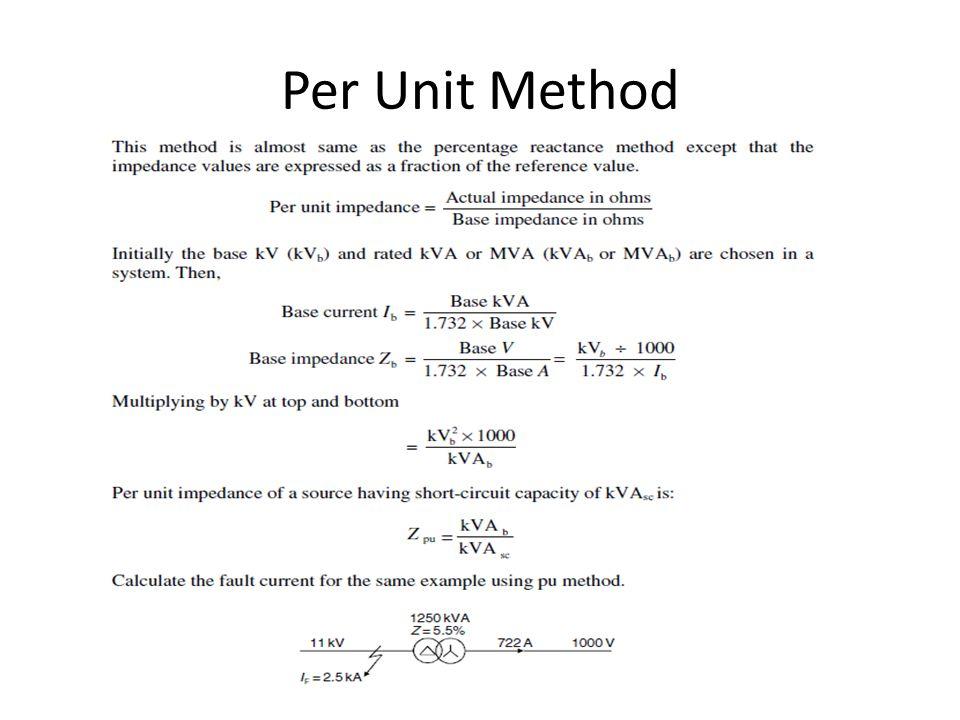 Per Unit Method