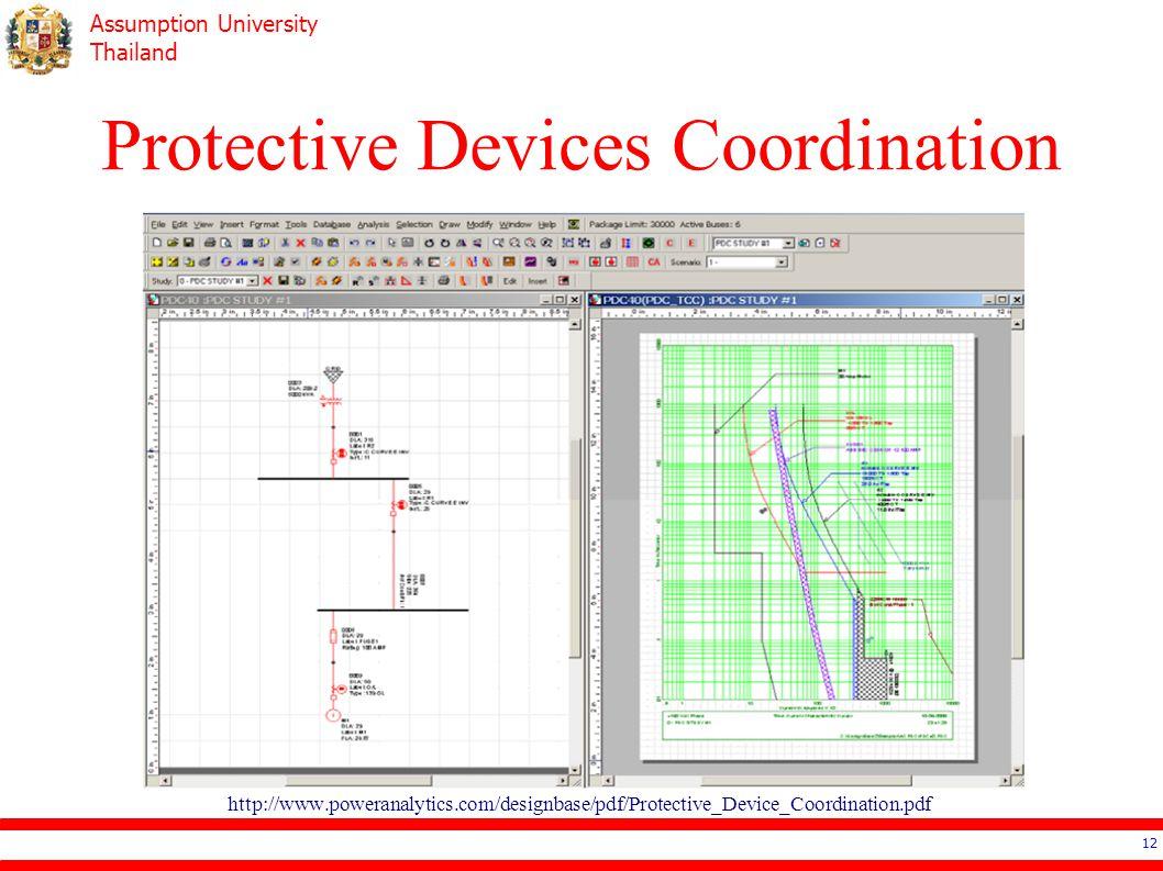 Assumption University Thailand Protective Devices Coordination 12 http://www.poweranalytics.com/designbase/pdf/Protective_Device_Coordination.pdf