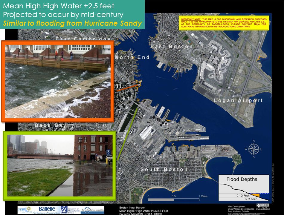 2 Mean High High Water +2.5 feet Projected to occur by mid-century Similar to flooding from Hurricane Sandy