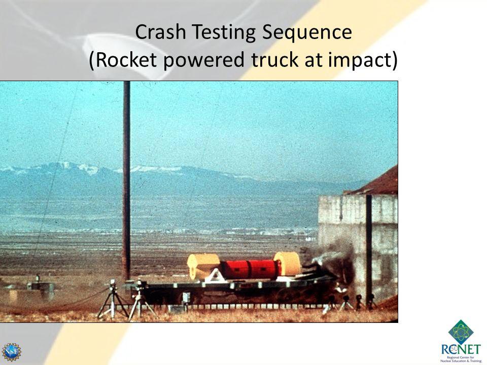 Crash Testing Sequence (Rocket powered truck at impact) 50
