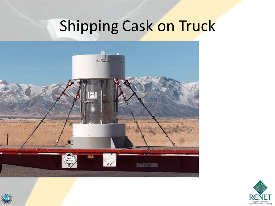 Shipping Cask on Truck 57