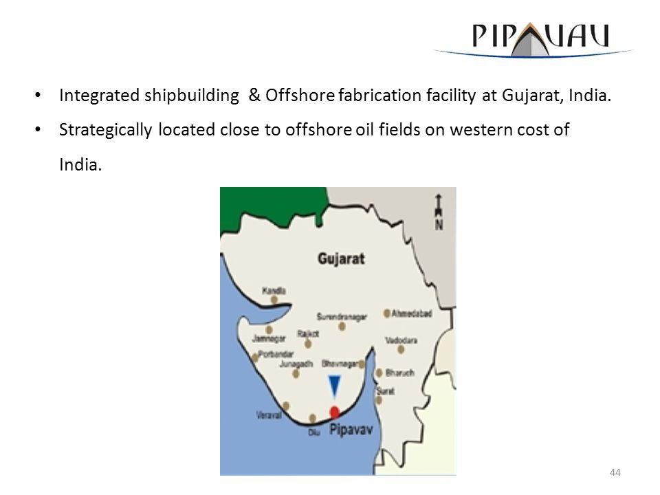 Integrated shipbuilding & Offshore fabrication facility at Gujarat, India.