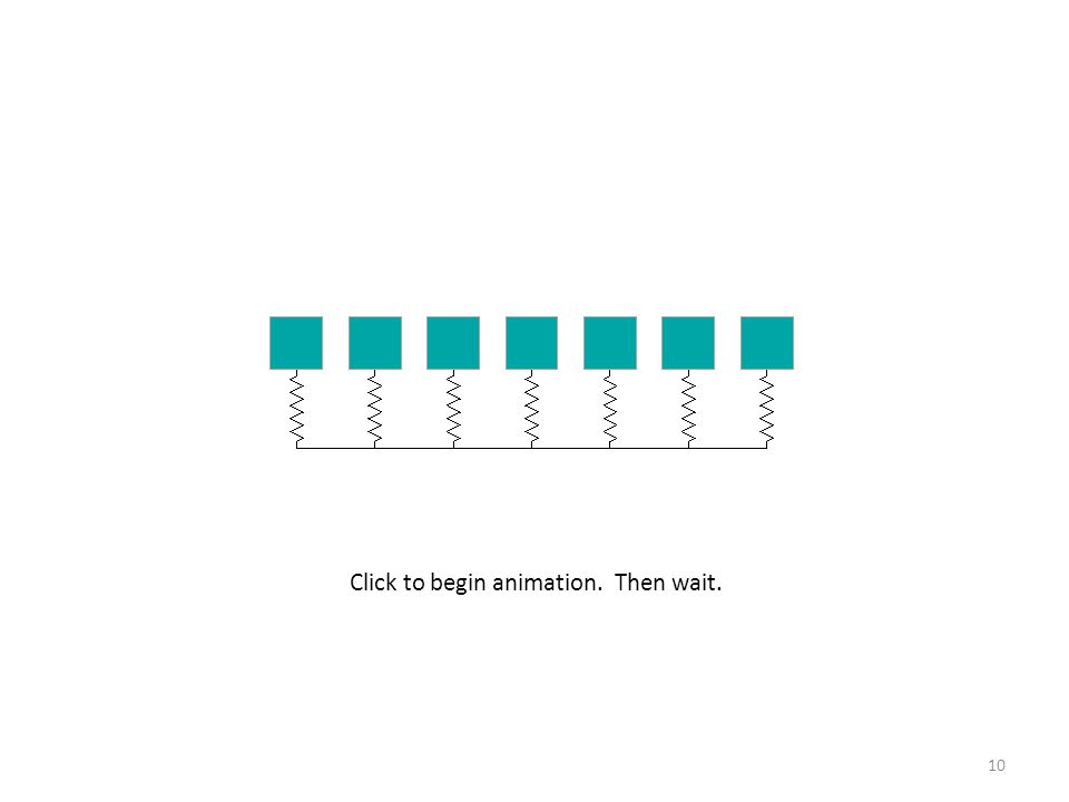 10 Click to begin animation. Then wait.