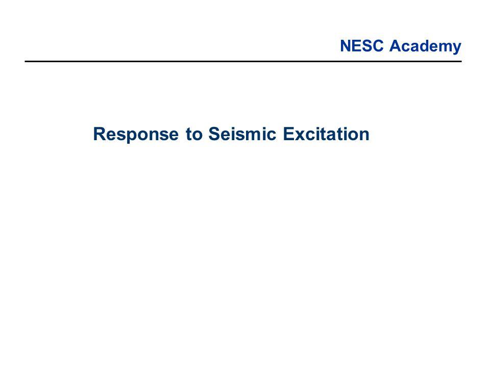 NESC Academy Response to Seismic Excitation