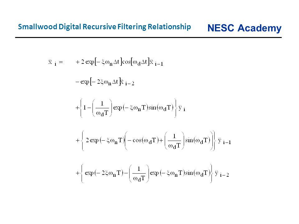 NESC Academy Smallwood Digital Recursive Filtering Relationship