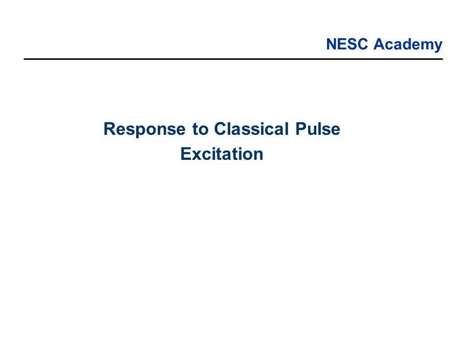 NESC Academy Response to Classical Pulse Excitation