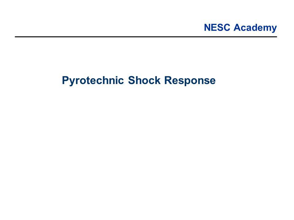 NESC Academy Pyrotechnic Shock Response