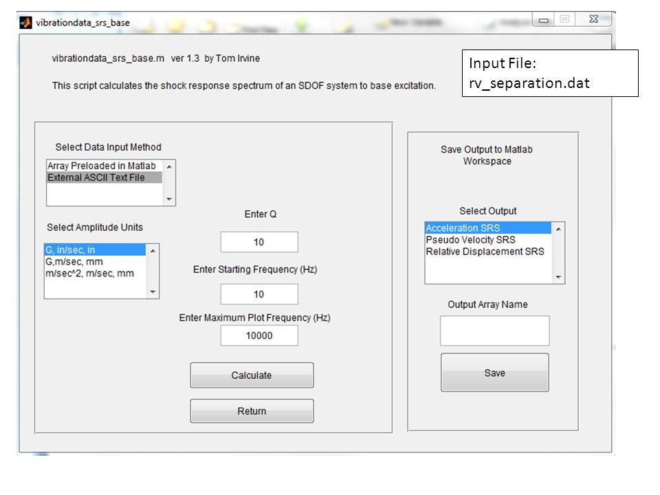 NESC Academy Input File: rv_separation.dat