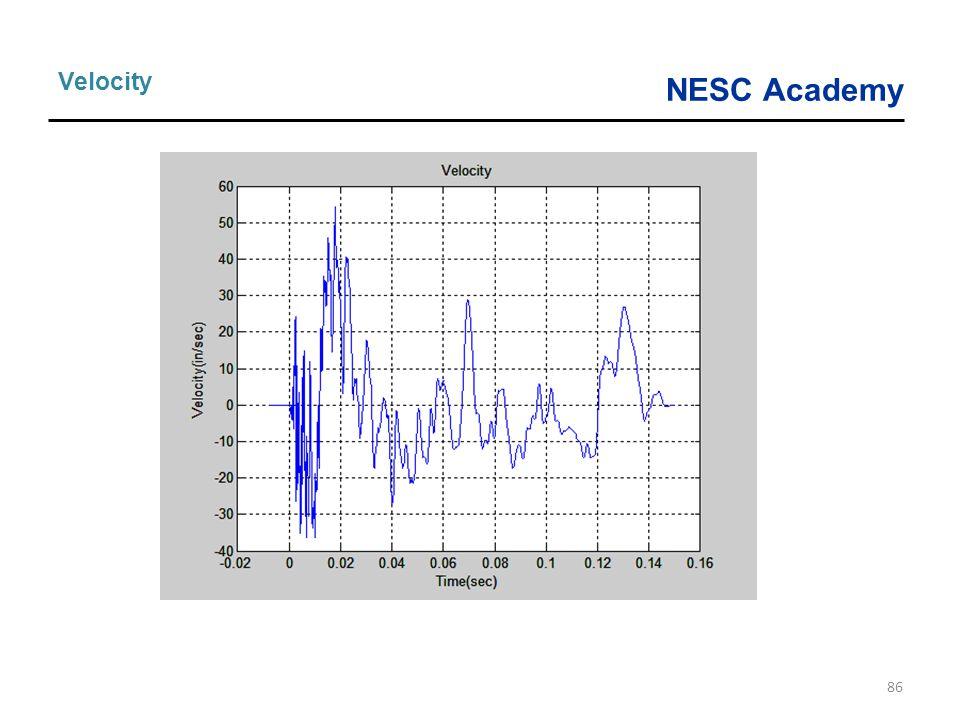 NESC Academy 86 Velocity