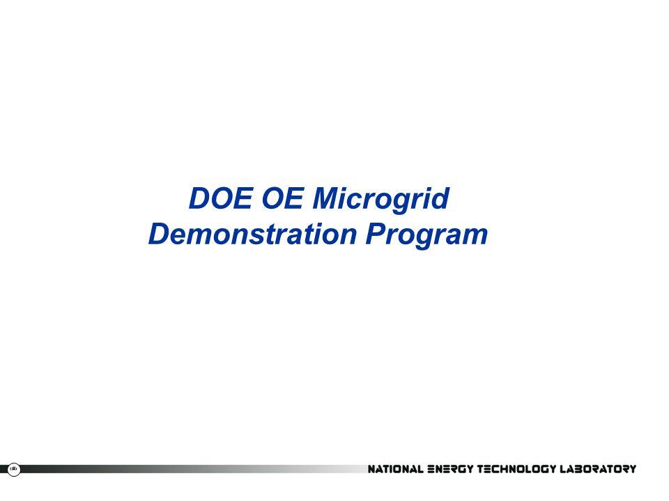 15 DOE OE Microgrid Demonstration Program
