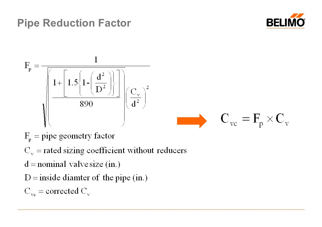 Pipe Reduction Factor