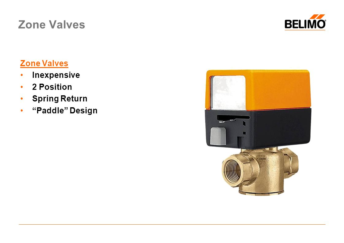 Zone Valves Inexpensive 2 Position Spring Return Paddle Design Zone Valves