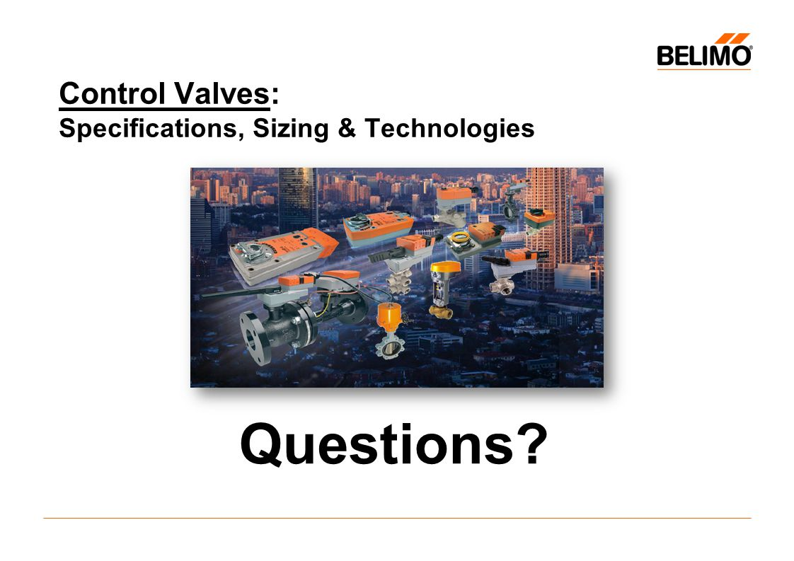 Control Valves: Specifications, Sizing & Technologies Questions?