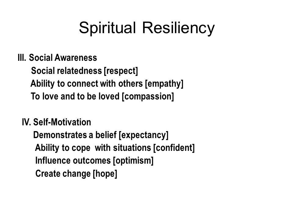 Spiritual Resiliency III.