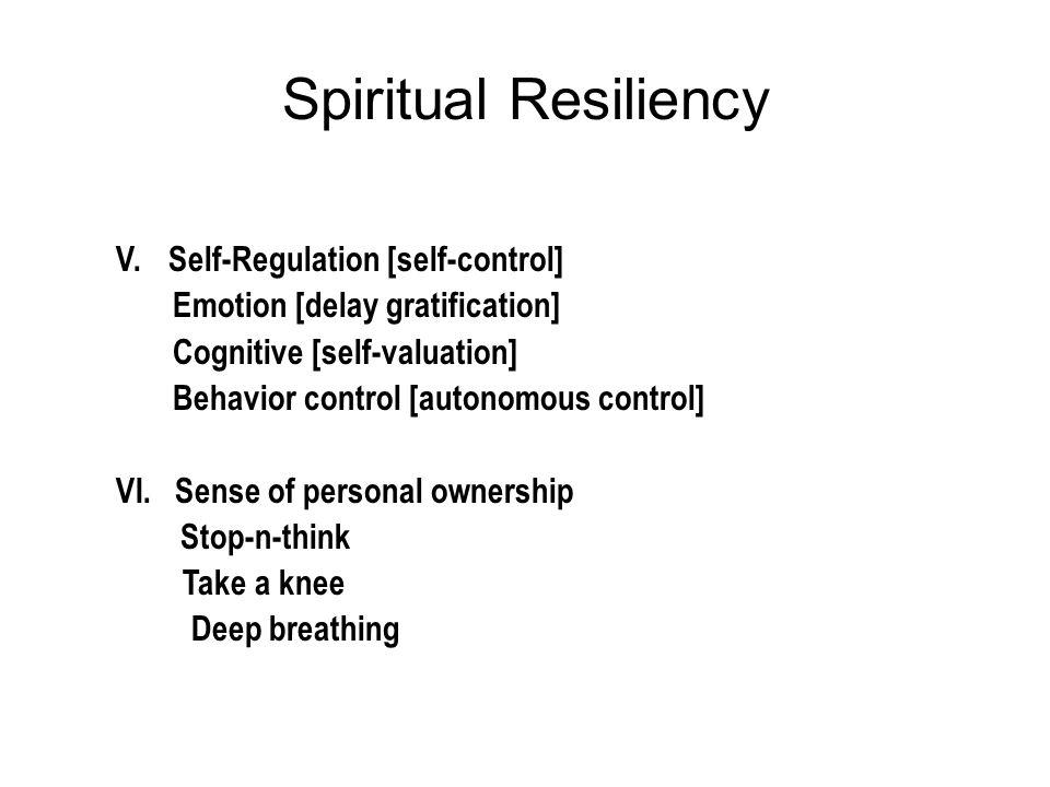 Spiritual Resiliency V.