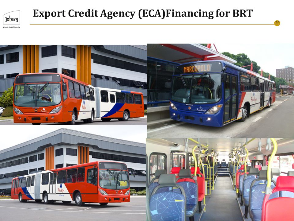 20 Export Credit Agency (ECA)Financing for BRT