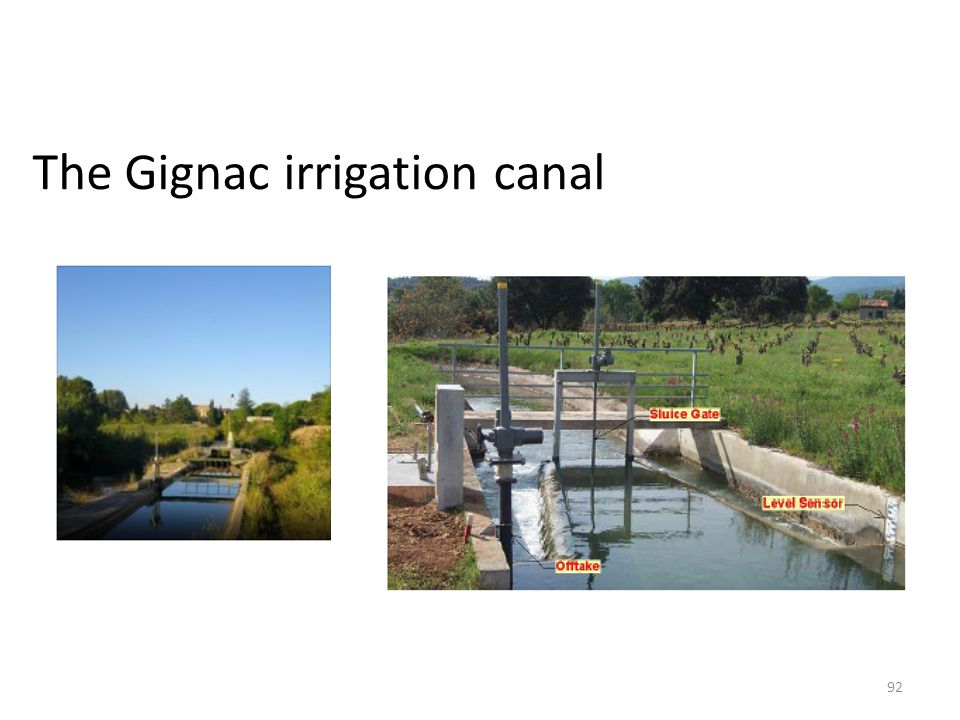 The Gignac irrigation canal 92