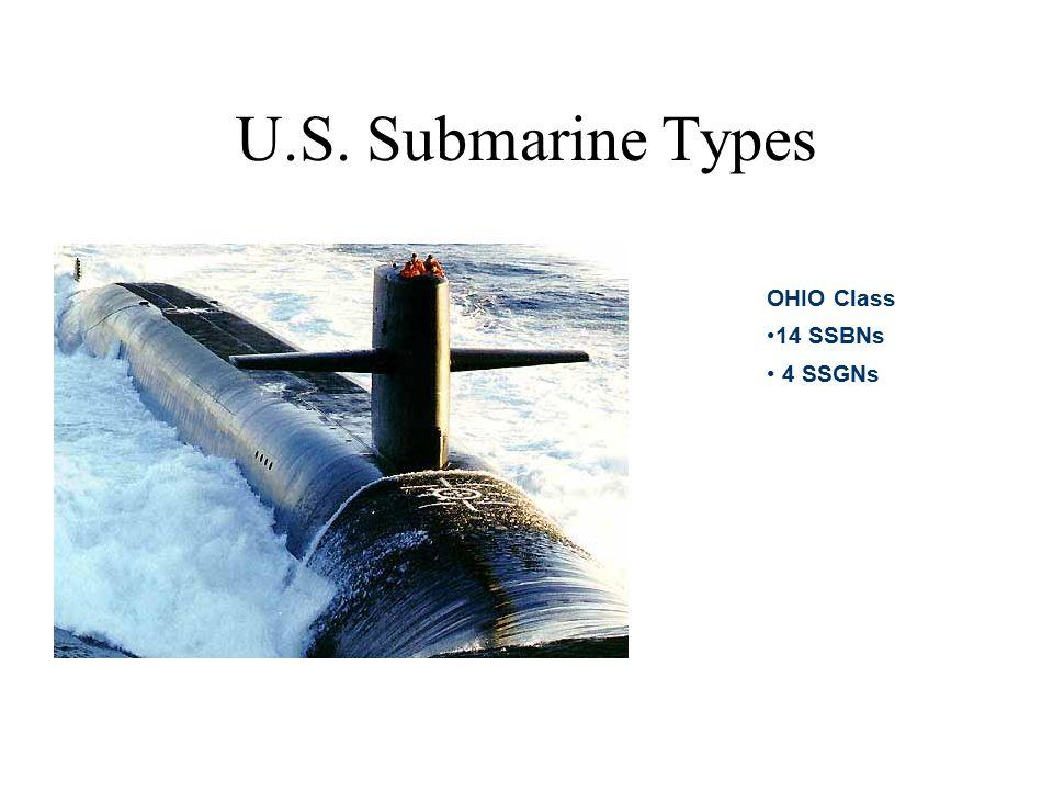 U.S. Submarine Types OHIO Class 14 SSBNs 4 SSGNs
