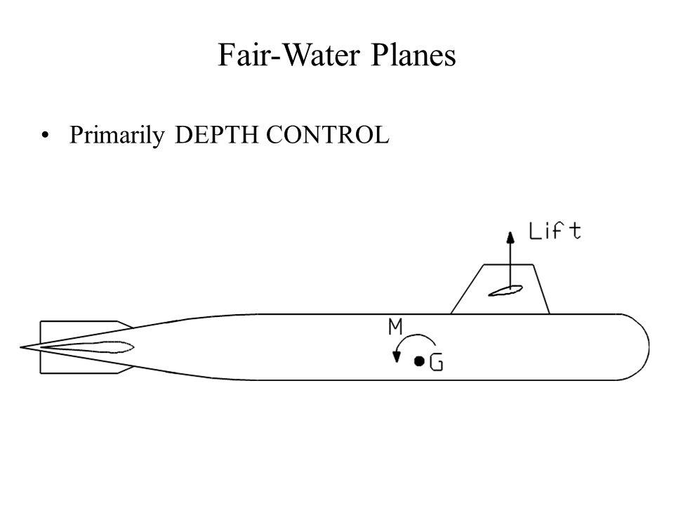 Fair-Water Planes Primarily DEPTH CONTROL
