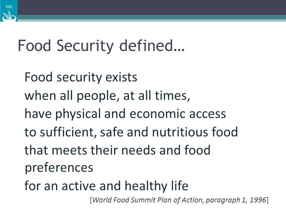 The Pillars of Food Security