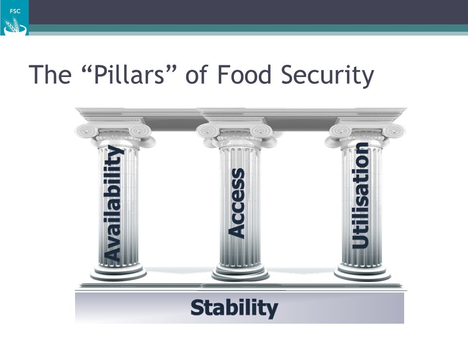Availability the amount of food of appropriate quality physically present in the area, and is expected to become available in that area may be aggregated at the national, provincial, district or community level.