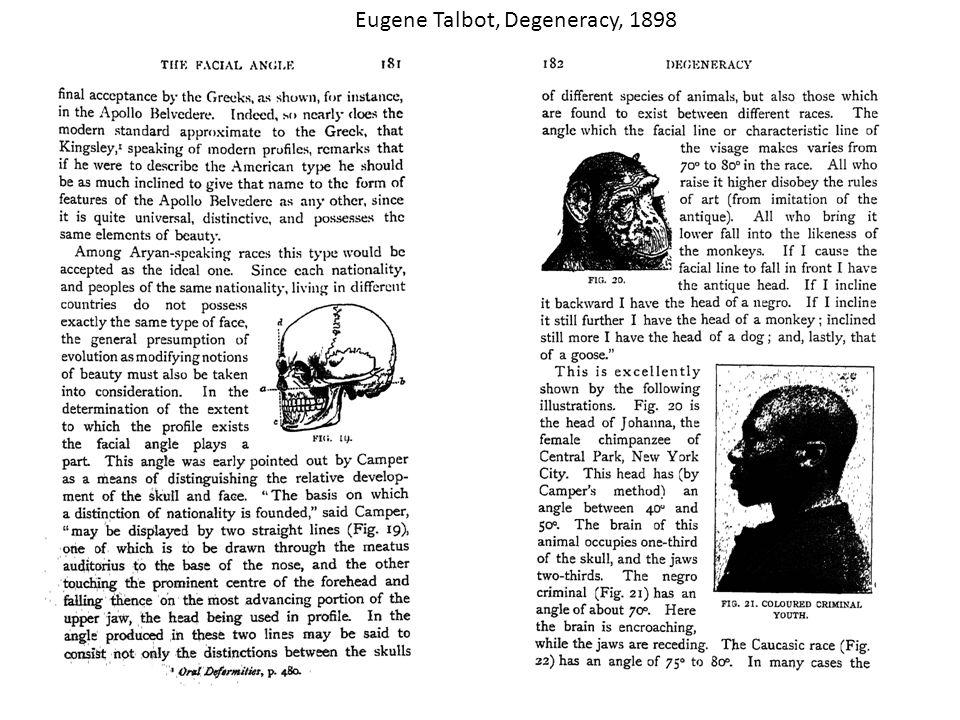 Eugene Talbot, Degeneracy, 1898