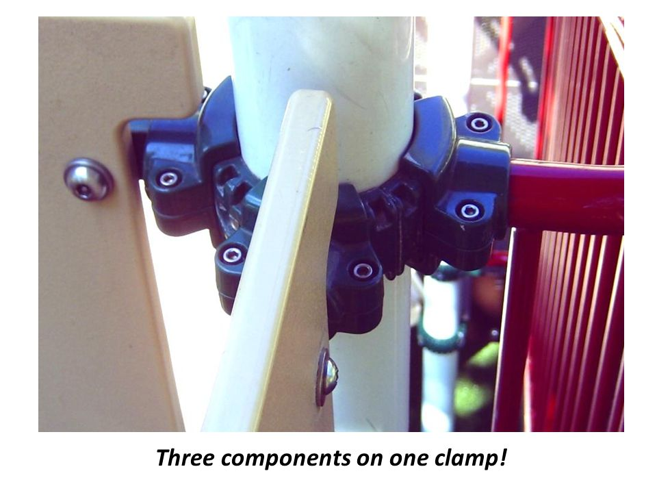 Three components on one clamp!