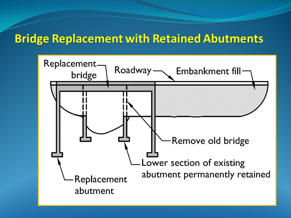 Bridge Replacement with Retained Abutments