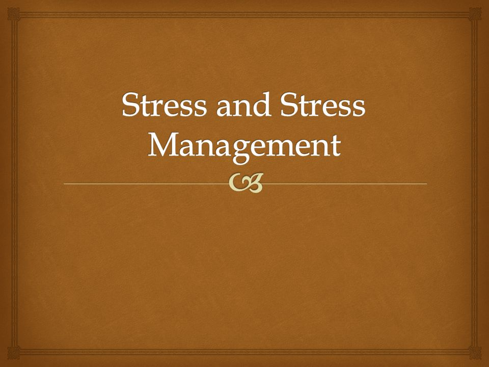   How Well Do You Resist Stress?  Let's find out! STRESS SURVEY