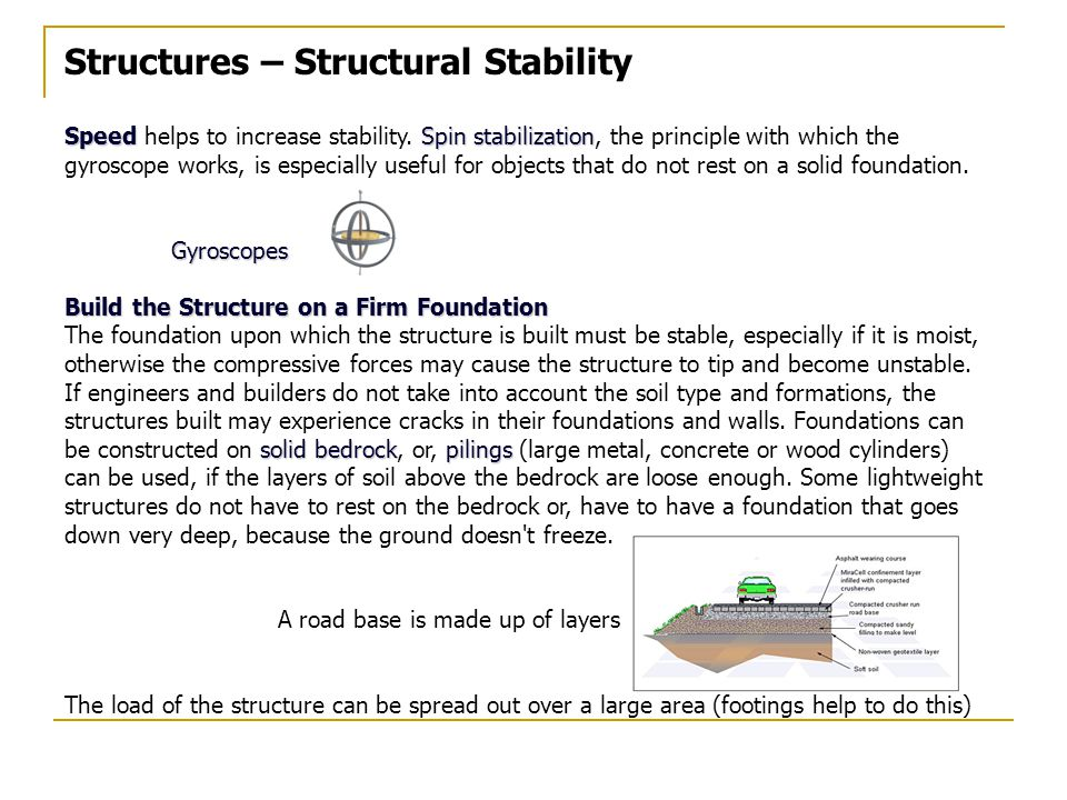 Structures – Structural Stability SpeedSpin stabilization Speed helps to increase stability.