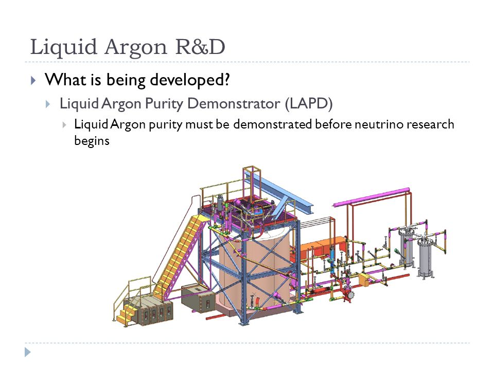 Liquid Argon R&D  What is being developed.