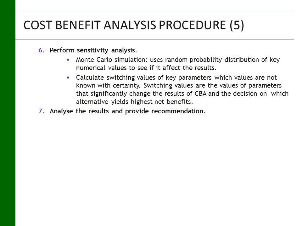 6.Perform sensitivity analysis.