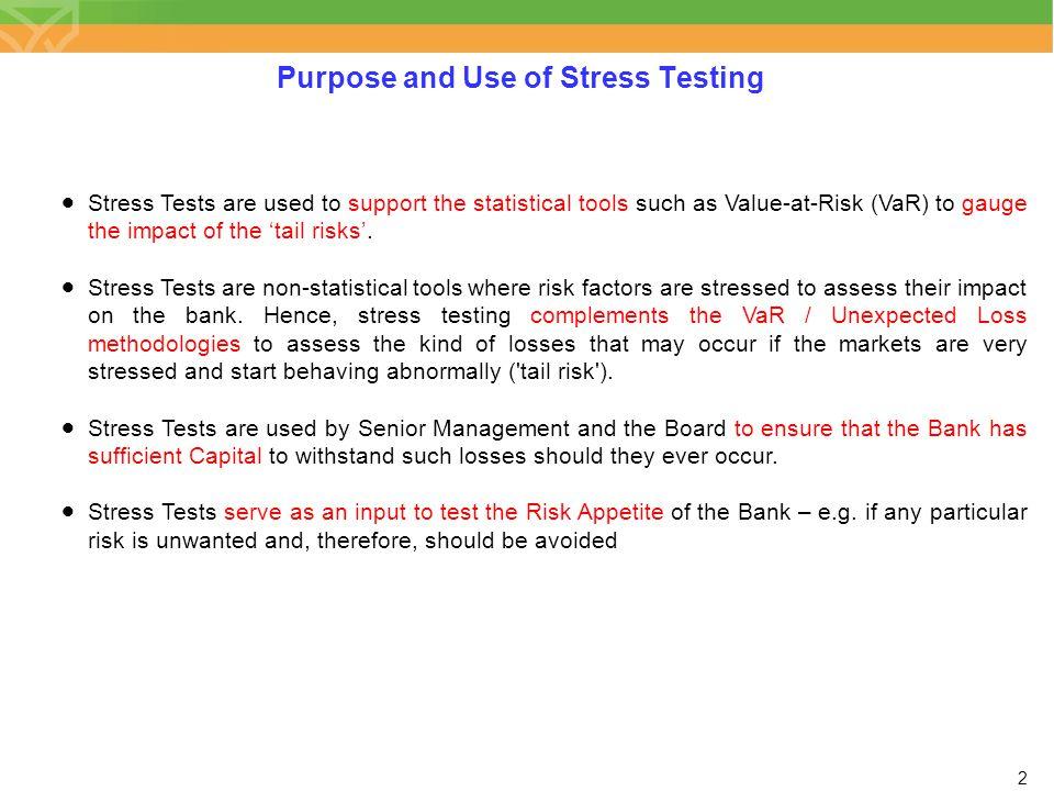 3 Stressing Models vs.