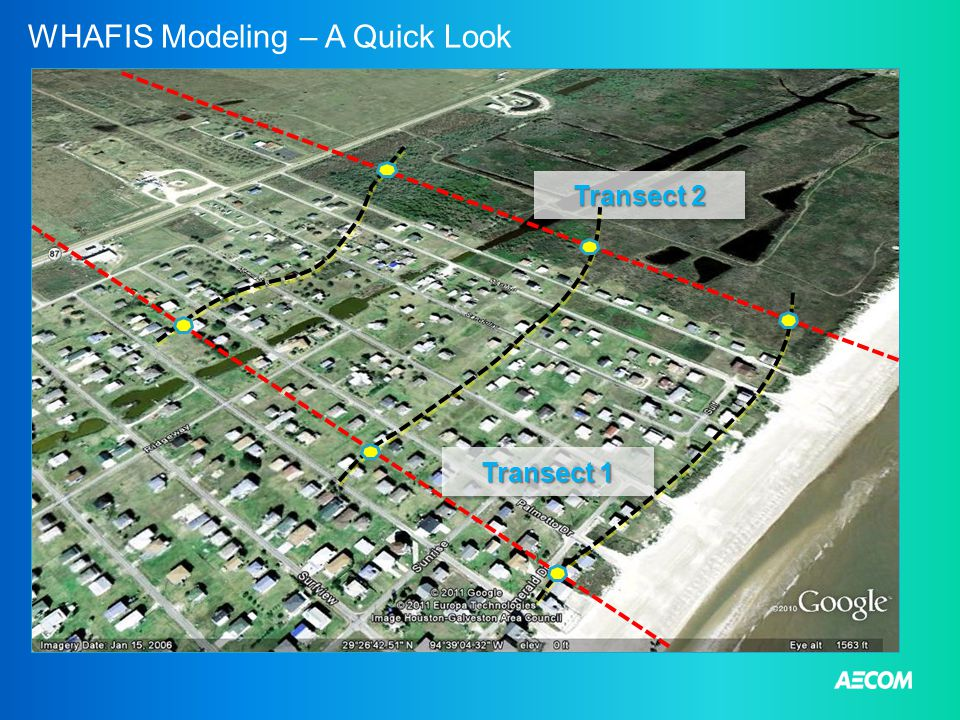 WHAFIS Modeling – A Quick Look Transect 1 Transect 2