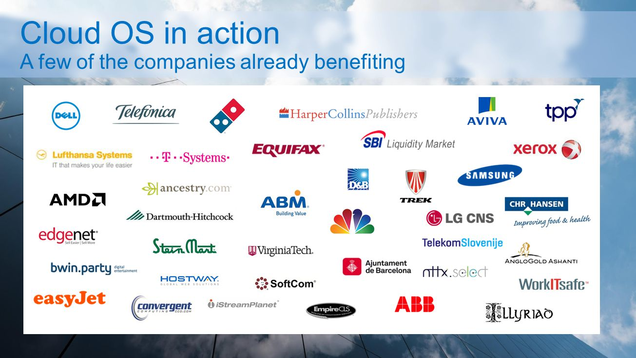 A few of the companies already benefiting
