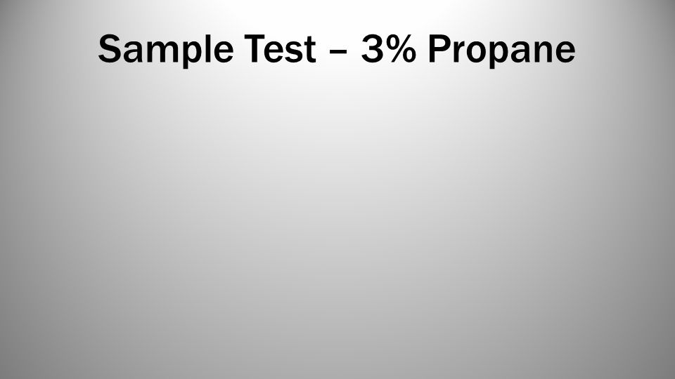Sample Test – 3% Propane