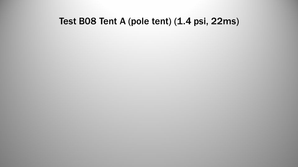 Test B08 Tent A (pole tent) (1.4 psi, 22ms)