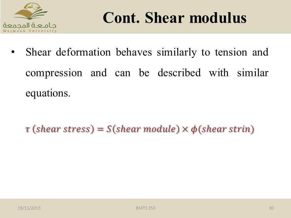 BMTS 35330 Cont. Shear modulus 19/11/2013