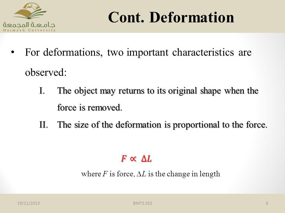BMTS 3534 Cont. Deformation 19/11/2013