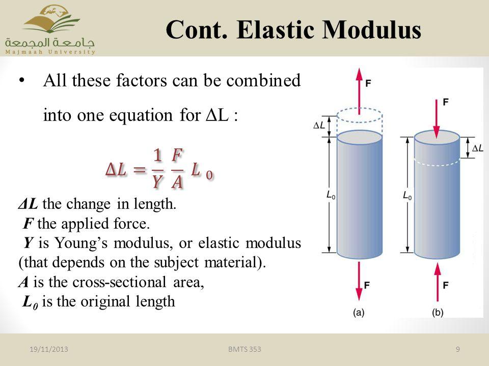 BMTS 3539 Cont. Elastic Modulus 19/11/2013