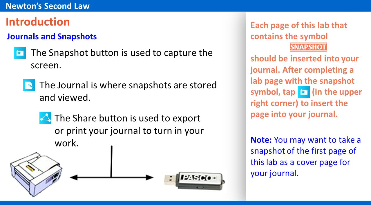 The Snapshot button is used to capture the screen.
