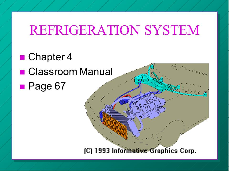 REFRIGERATION SYSTEM n Chapter 4 n Classroom Manual n Page 67
