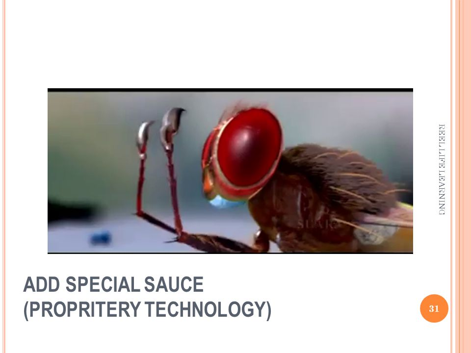 ADD SPECIAL SAUCE (PROPRITERY TECHNOLOGY) 31 REEL LIFE LEARNING