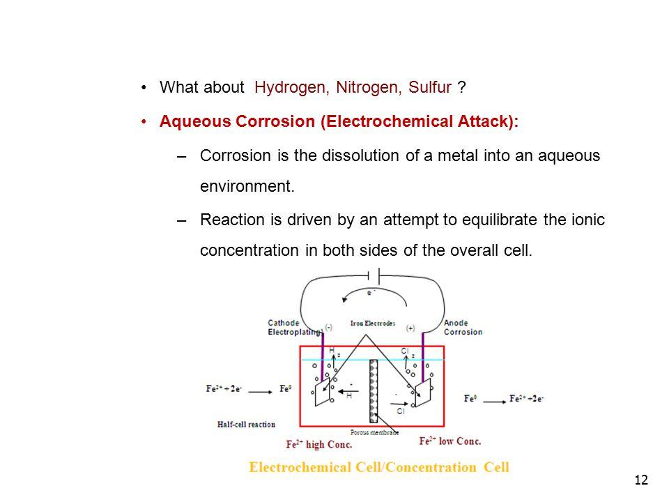 12 What about Hydrogen, Nitrogen, Sulfur .