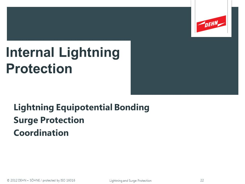 © 2012 DEHN + SÖHNE / protected by ISO 16016 Lightning and Surge Protection air ventilation foundation earthing electrode steel reinforcement terminal